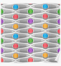 Abstract Colorful Decorative Pattern Poster