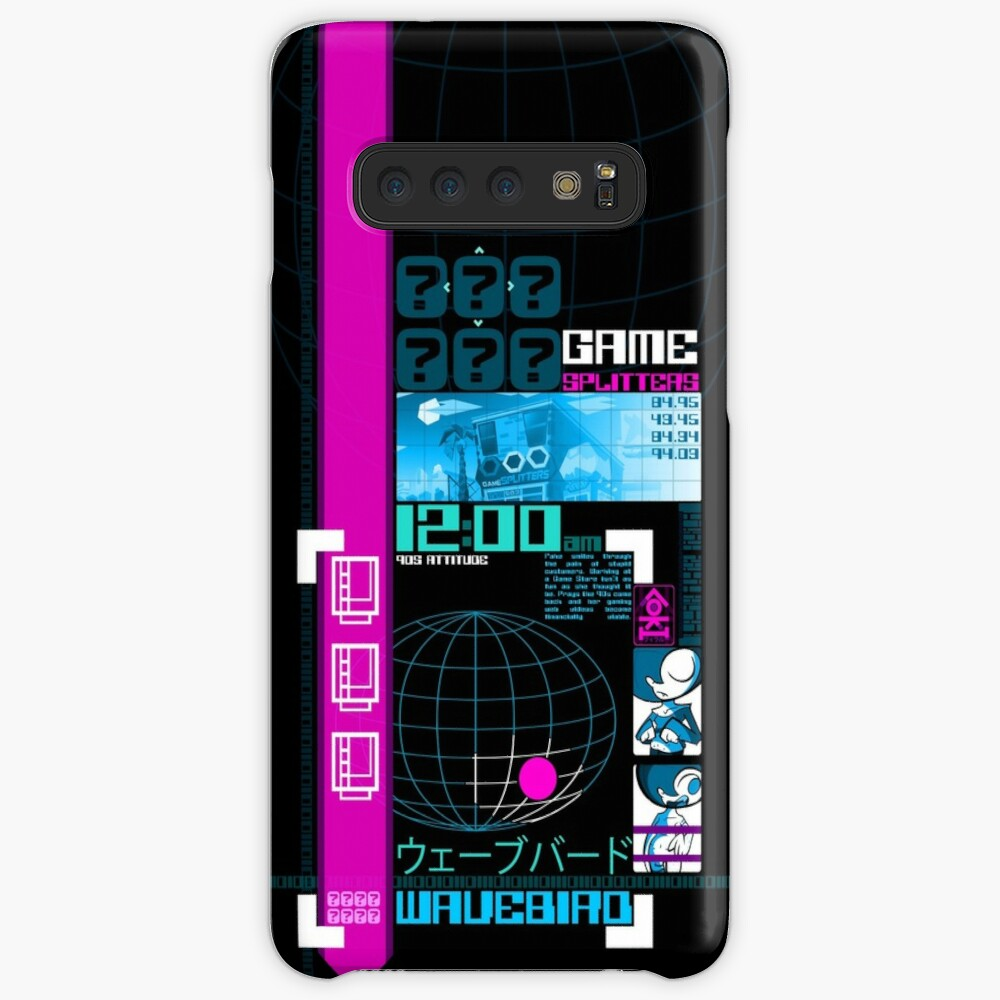 Wavebird Y2K Black Neon Case & Skin for Samsung Galaxy