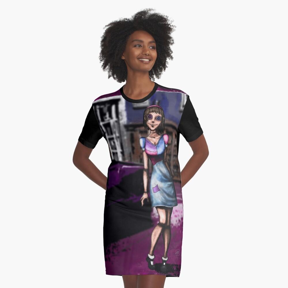 Deranged Doll Graphic T-Shirt Dress