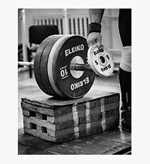 Gewichtheben Fotodruck