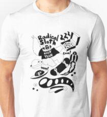 Radical Sloth - Black Line T-Shirt