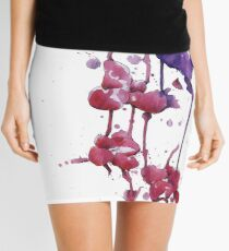 Dripping Orchids Mini Skirt