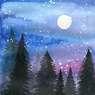 Moonlit trees 1 by klbailey