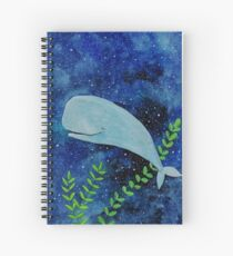 Dreaming whale Spiral Notebook