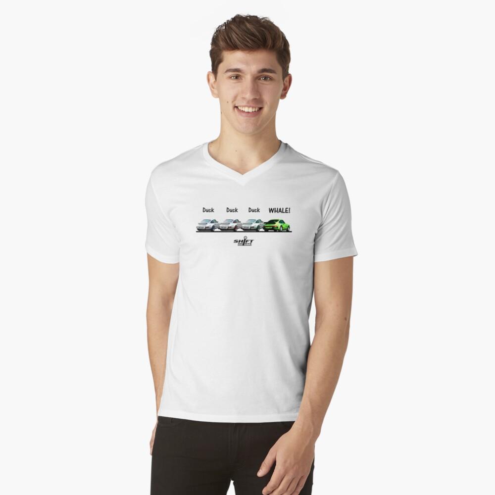 Duck Duck Whale - Porsche 911 Aircooled Inspired Men's V-Neck T-Shirt Front