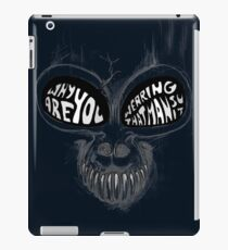 Donnie Darko: Questioning Frank's Bunny Suit iPad Case/Skin