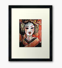 Geisha im Herbst Regen: Die unschuldige Konkubine Gerahmter Kunstdruck