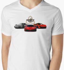 The Trinity - McLaren P1 LaFerrari Porsche 918 Inspired  Men's V-Neck T-Shirt