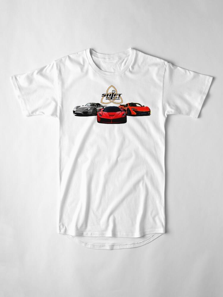 Alternate view of The Trinity - McLaren P1 LaFerrari Porsche 918 Inspired  Long T-Shirt