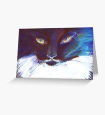 Feline Stare Greeting Card