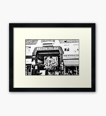 Brixton Village Entrance - Black and White Framed Print