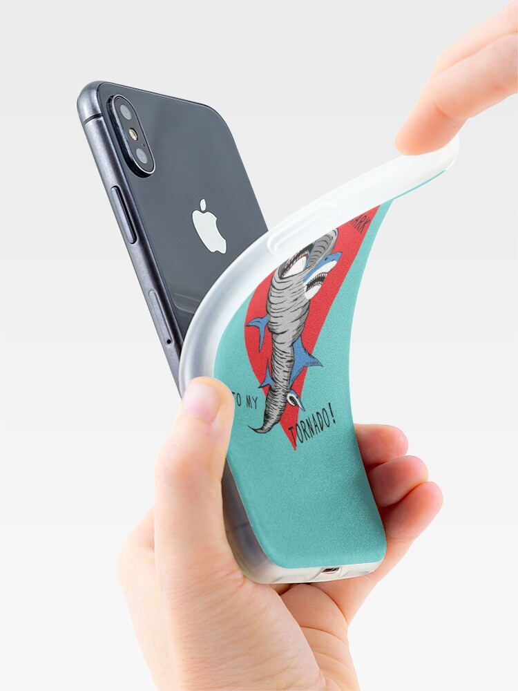 Alternate view of Shark To My Tornado iPhone Case & Cover