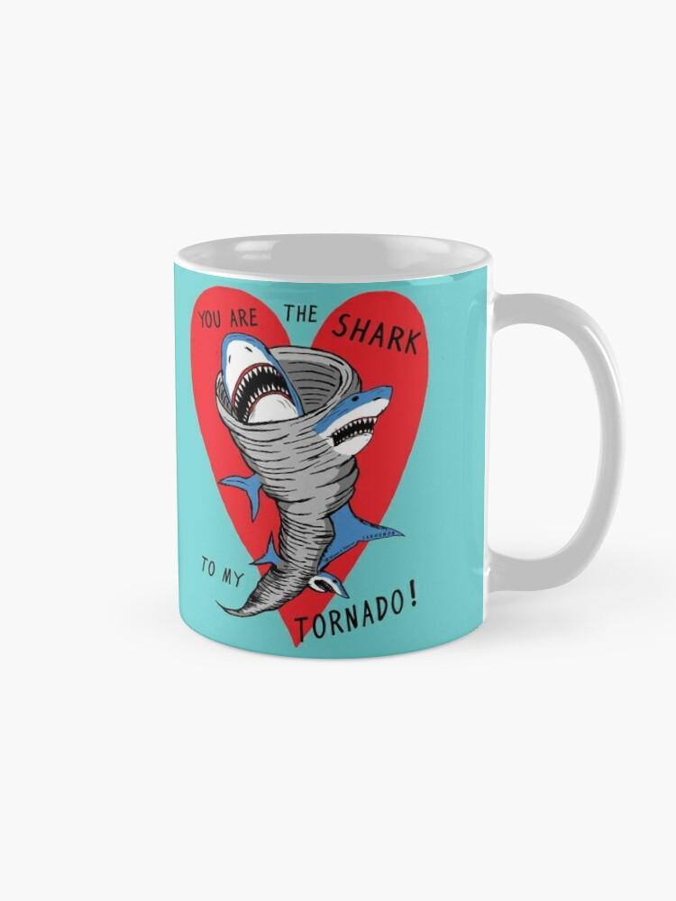 Alternate view of Shark To My Tornado Mug