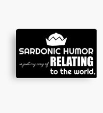 Sardonic Humor in white Canvas Print
