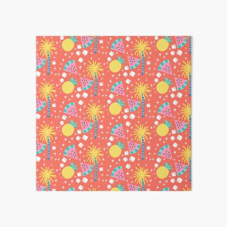 Watermelon and Pineapple Sparkles Pattern Art Board Print
