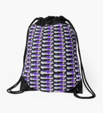 09 HAYABUSA 1300 PURPLE N BLACK Drawstring Bag