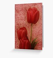 dipinto tulipano rosso Greeting Card