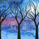 Moonlit Trees 2 by klbailey