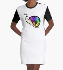 Rainbow Pride Snail Graphic T-Shirt Dress