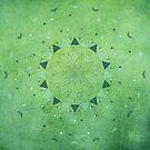 Emerald Daisy Mandala by Barbora  Urbankova