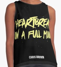 heartbreak on a full moon chris brown - chris brown questions - Music Tshirt Contrast Tank