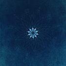 Crystal Flower Mandala by Barbora  Urbankova