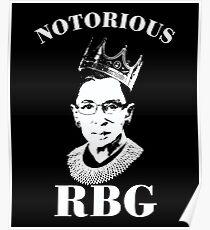 Notorious RBG Shirt  Poster