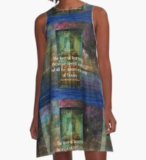 Book literary reading quote A-Line Dress