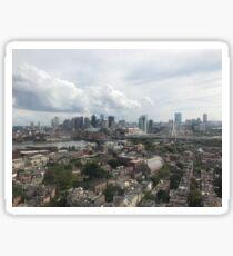 Boston Skyline from Bunker Hill Sticker