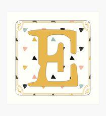 Initial E - Letter E Art Print