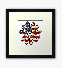 Flower Power American Flag Framed Print