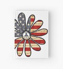 Flower Power American Flag Hardcover Journal