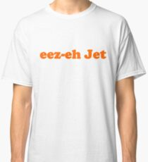 Kasabian - eez-eh Jet (Orange Text)  Classic T-Shirt