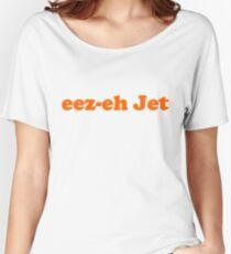 Kasabian - eez-eh Jet (Orange Text)  Women's Relaxed Fit T-Shirt