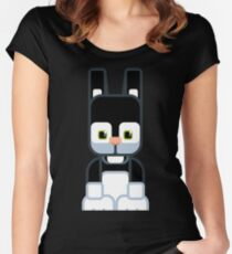 Black Bunny Rabbit - Super Cute Animals Women's Fitted Scoop T-Shirt