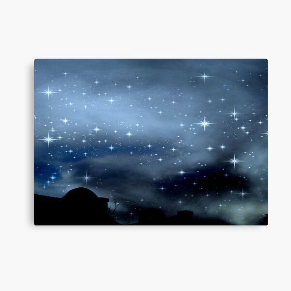 Clear Starry Night © Canvas Print