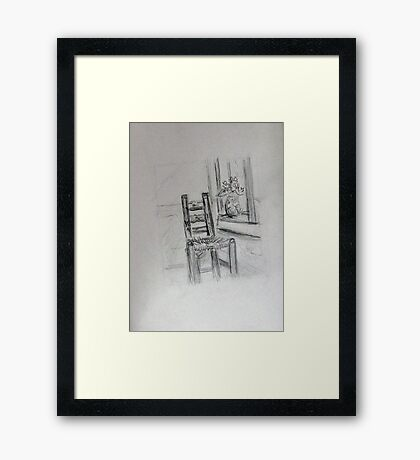Vincent's Chair Framed Print