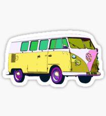 Vintage VW Hippie Bus Sticker