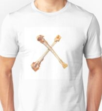 Two crossed chicken bones on white. T-Shirt