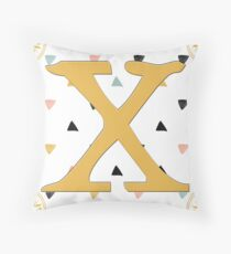 Initial X - Letter X Throw Pillow
