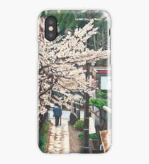 Passing by Cherry Blossoms iPhone Case/Skin