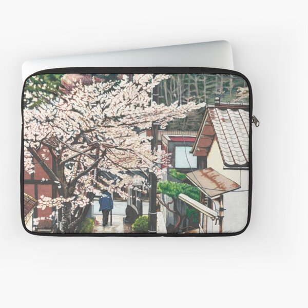 Passing by Cherry Blossoms Laptop Sleeve