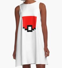 Pokeball Pixel Design - Many Items Available A-Line Dress
