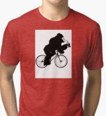 Silverback Gorilla on a Bike Tri-blend T-Shirt
