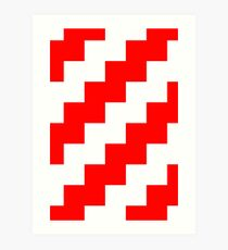 Candy Cane Pixel Design - Many Items Available Art Print
