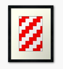 Candy Cane Pixel Design - Many Items Available Framed Print