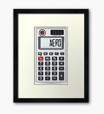 NERD Calculator Framed Print