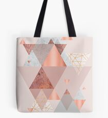 Blush Pink Geo Tote Bag