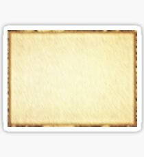 Rectangular empty old papyrus with brown border. Sticker