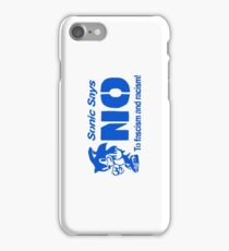 Sonic Says NO To Fascism and Racism! iPhone Case/Skin